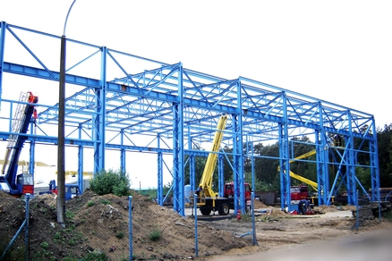 Construction de hall de fabrication