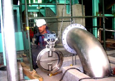 Modernization of installation of pipelines pulp