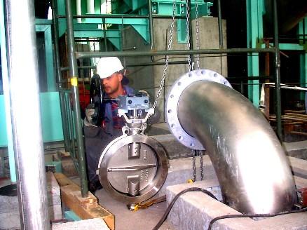 Moodernisation de l'installation de tuyauterie de la masse de papier